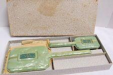 Vintage Jade Vanity  Dresser Set in Original Box~Brush Set~