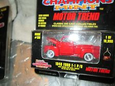 1948  FORD F-1 PICKUP TRUCK   Racing Champions mint edition # 133  1:58 BLACK