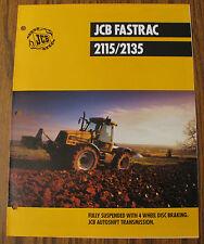 JCB 2115 & 2135 Fastrac Tractor Spec Sheet Brochure Literature