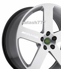 4 - AMG Decal Sticker  wheels rims Mercedes Benz Sport Racinig emblem logo WHITE