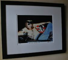 Guns N' Roses early Axl Rose Rare 1985 fine art photo signed 13/100 16x20 frame