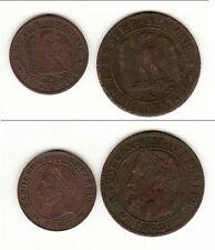 1 CENTIME NAPOLEON III 1862 K + CADEAU 2 CENTIMES 1862 K