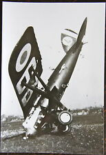 AVIATION, PHOTO AVION CRASH, ACCIDENT, NEZ DANS LE GAZON