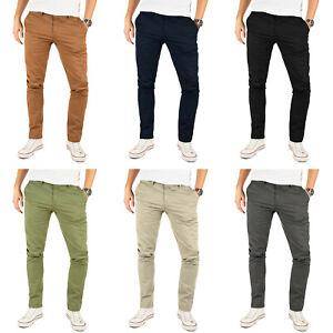 Yazubi Herren Chino Hose Business Chinohose Casual Stretch Stoff Slim Jeans Kyle