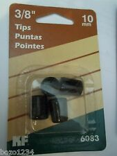 "19 Waxman Kf 6083 3/8"" Tips Trivets Peg Hooks Wire Organizers 4Pk Blk Protection"