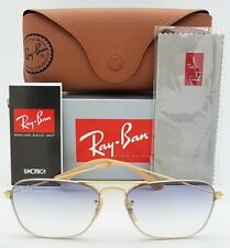 NEW Rayban Sunglasses RB3603 001/19 56 Gold Blue Gradient Caravan 3136 AUTHENTIC