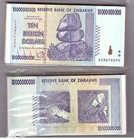 ZIMBABWE BUNDLE 100 X 20 BILLION USED BANKNOTE BUNDLE PACK VG//F