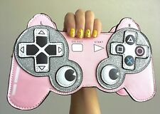 Pink Playstation Controler Gamer Cosplay Glitter Harajuku Kawaii Crossbody Bag