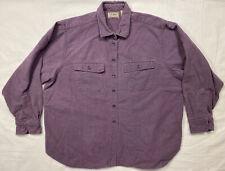 VTG 80s 90s Chamois Cloth Shirt Faded Purple Womens XXL Short L.L.Bean USA
