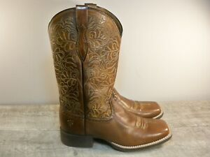 Ariat Round Up Remuda Western Stitching Cowboy Women's Leather Boots Size 7 B