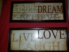 Glass, framed quote boards
