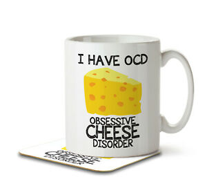 I Have OCD Cheese Lover - Mug and Coaster by Inky Penguin