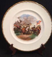 Crooksville China's John Trumbell Depiction Revolutionary War Surrender Plate