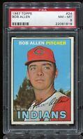 1967 Topps Baseball #24 BOB ALLEN Cleveland Indians PSA 8 NM-MT