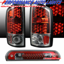 Set of Red LED Taillights + 3rd Brake Light for 2002-2005 Dodge Ram 1500