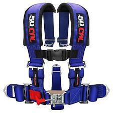 5 Point Safety Harness 2 Inch Seat Belt RZR 800 XP900 XP1000 S 900 Vibrant Blue