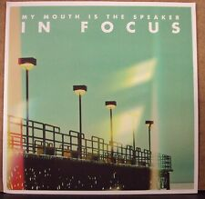 """MY MOUTH IS THE SPEAKER In Focus 7"""" NEW clear gold vinyl Escapist w/download"""