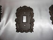 Cast iron single light switch plate shabby cottage Cottage Rose chic & shabby