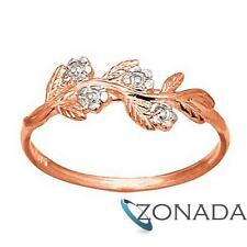 Diamond 9ct 9k Solid Rose Gold Ring Size P 7.75 R24071