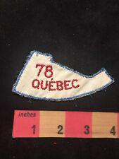 Vtg 1978 QUEBEC Canada Patch 87XD