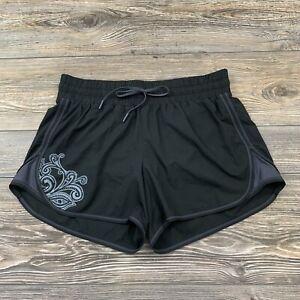 Athleta Shorts Women's Small Dark Grey Lined Polyester Athletic Running~Gym