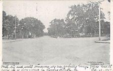 1907 Church Park Goshen NY post card Orange county