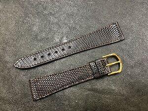 Pinpoint pattern Tourneau Genuine Lizard 19mm vintage watch band Swiss 1960s NOS