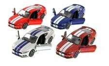 SET : 4 1:38 2015 FORD MUSTANG GT WITH STRIPES (RED, BLUE, COPPER & SILVER) Diec