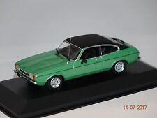 FORD CAPRI II 1974 VERDE-NERO 1:43 MAXI Champs Minichamps 940081200 NUOVO & OVP