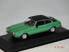 Ford Capri II 1974 grün-schwarz 1:43 MaXichamps Minichamps 940081200 neu & OVP