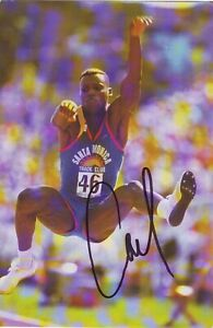Carl Lewis (10X15 cm )Original Autographed Photo