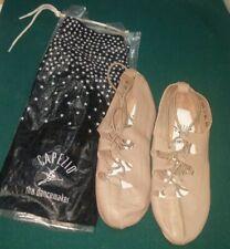 CAPEZIO 389 Tan Split Sole Ghillie Dance Shoes. New old Stock