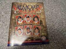 2014 MLB BASEBALL HALL OF FAME PROGRAM Greg Maddux Tom Glavine Bobby Cox Frank