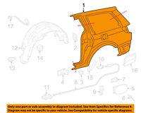 61611-08041 Toyota Panel, quarter, rh 6161108041