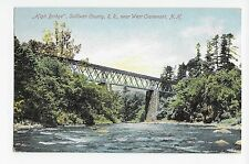 Vintage Postcard West Claremont NH High Bridge Sullivan County R.R. UDB