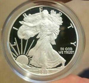 2010 W 1 oz .999 Fine Proof American Silver Eagle Coin Pristine