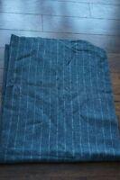 "VTG Tennessee Woolen Mills Lightwgt Gray Stripes Wool blend Blanket 40"" 52"" USA"