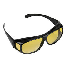 HD Night Vision Unisex Driving Sunglasses Nice Over Wrap Around Glasses Yellow