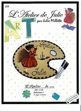 Art Adult Painting Book L'Atelier de Julie Petite Fille French Instruction