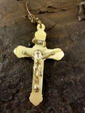 R128 4,3 x 2,1 cm ca Kreuz Buntmetall vergoldet zum Anhängen