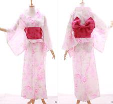 K-028 weiß rosa Glitzer Sakura Blumen Original Japan Kimono YUKATA OBI Gürtel