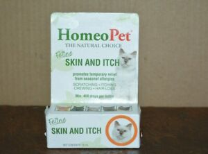HOMEO PET FELINE SKIN & ITCHIN THE NATURAL CHOICE  ( 450 DROPS ) NEW