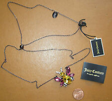 Juicy Couture Critter Necklace Crystal Bee Charm NEW $68