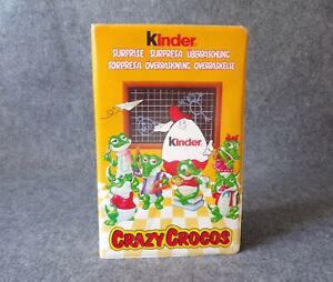 Kinder Surprise Crazy Crocos Figure Set in Promo Case - Retro Vintage Chocolate