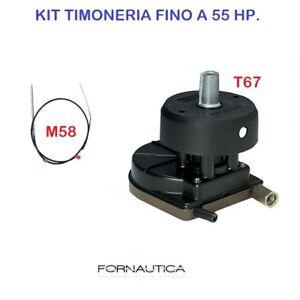 KIT TIMONERIA ULTRAFLEX T67 CON MONOCAVO M58 E COPRIMOZZO  - FUORIBORDO MAX 55HP