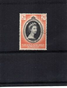 Turks & Caicos Islands - 1953 Coronation Fine Used (1 stamp set - SG 234)