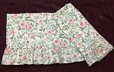 MARTEX Pink Roses Twin Flat Sheet & Pillowcase Vintage Floral Cottage Chic