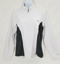 The North Face White And Gray Fleece 1/4 Zippered Women's Pullover Size Large