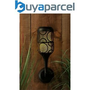 Noma Solar Filigree Global Wall Light Lantern Torch Candle Effect Silhouette
