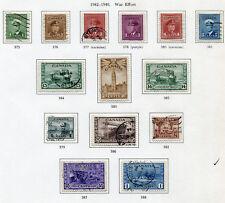 1942-1948 Canada.  War Effort.  Full set of 14 stamps USED.  SG 375/388.